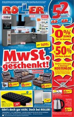Angebote von Möbelhäuser im ROLLER Prospekt ( Neu)