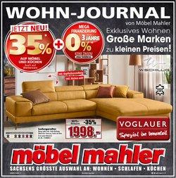 Angebote von Möbel Mahler im Möbel Mahler Prospekt ( 9 Tage übrig)