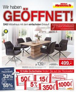 Angebote von Möbel Heinrich im Möbel Heinrich Prospekt ( 15 Tage übrig)