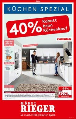 Angebote von Möbelhäuser im Möbel Rieger Prospekt ( Neu)