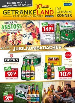 Angebote von Supermärkte im Getränkeland Prospekt ( Läuft morgen ab)