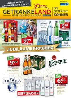 Angebote von Getränkeland im Getränkeland Prospekt ( Läuft heute ab)