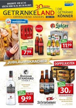 Angebote von Getränkeland im Getränkeland Prospekt ( 11 Tage übrig)