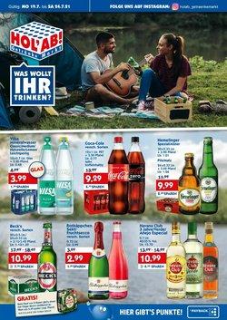 Angebote von Hol'ab Getränkemarkt im Hol'ab Getränkemarkt Prospekt ( Läuft heute ab)