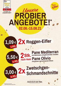 Angebote von Restaurants im Bäcker Eifler Prospekt ( Gestern veröffentlicht)