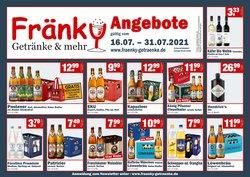 Angebote von Fränky Getränke im Fränky Getränke Prospekt ( Läuft morgen ab)