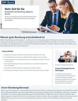 BW Bank Katalog ( Mehr als 30 Tage )