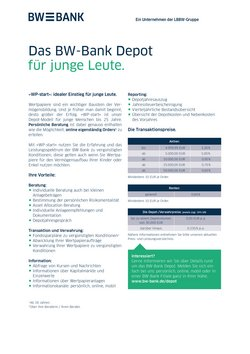 Angebote von Banken und Versicherungen im BW Bank Prospekt ( Mehr als 30 Tage)