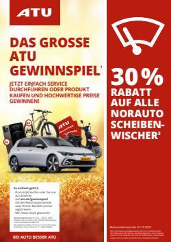 Angebote von Auto, Motorrad und Werkstatt im ATU Prospekt ( 3 Tage übrig)