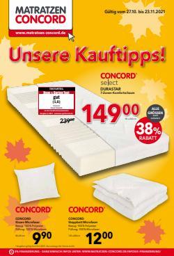 Angebote von Möbelhäuser im Matratzen Concord Prospekt ( Gestern veröffentlicht)