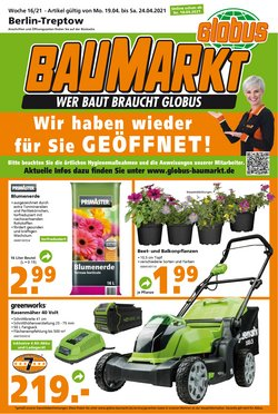 Globus Baumarkt Katalog in Berlin ( 2 Tage übrig )