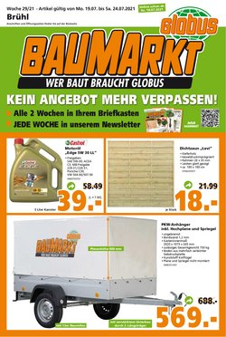 Angebote von Baumärkte und Gartencenter im Globus Baumarkt Prospekt ( Läuft heute ab)