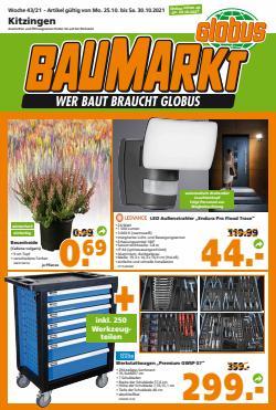Angebote von Baumärkte und Gartencenter im Globus Baumarkt Prospekt ( 2 Tage übrig)