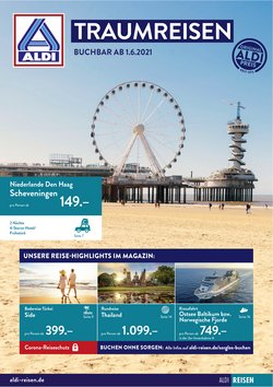 Angebote von Reisen und Freizeit im Aldi Süd Reisen Prospekt ( 15 Tage übrig)