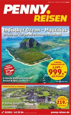 Angebote von Reisen und Freizeit im Penny Reisen Prospekt ( Neu)