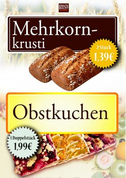 Angebote von Restaurants im Erntebrot Prospekt ( Neu)