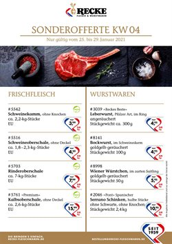Recke Fleischwaren Katalog ( Abgelaufen )