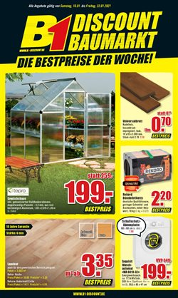 Angebote von Baumärkte und Gartencenter im B1 Discount Baumarkt Prospekt in Frankfurt am Main ( Gestern veröffentlicht )
