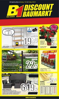 Angebote von Baumärkte und Gartencenter im B1 Discount Baumarkt Prospekt in Berlin ( Läuft morgen ab )