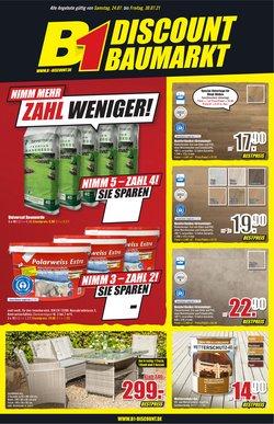 Angebote von Baumärkte und Gartencenter im B1 Discount Baumarkt Prospekt ( Neu)