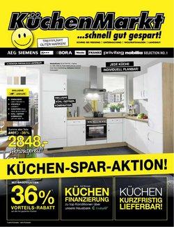 Angebote von Möbelhäuser im KüchenMarkt Prospekt ( 3 Tage übrig)