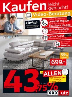 Angebote von Möbelhäuser im XXXLutz Prospekt in Frankfurt am Main ( Neu )