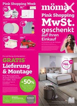 Angebote von Möbelhäuser im Mömax Prospekt ( Gestern veröffentlicht)