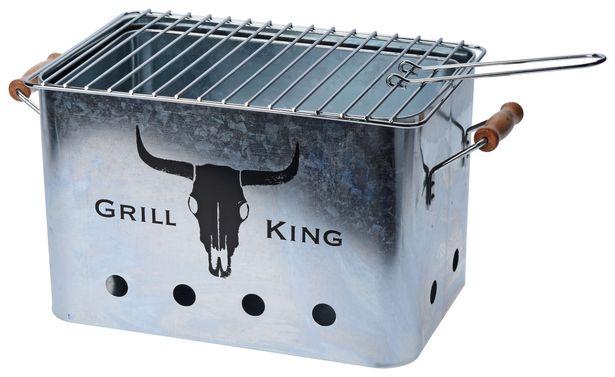 Holzkohlegrill Grill King Metall B/h/l: Ca. 20x20x32 Cm für 9,99€