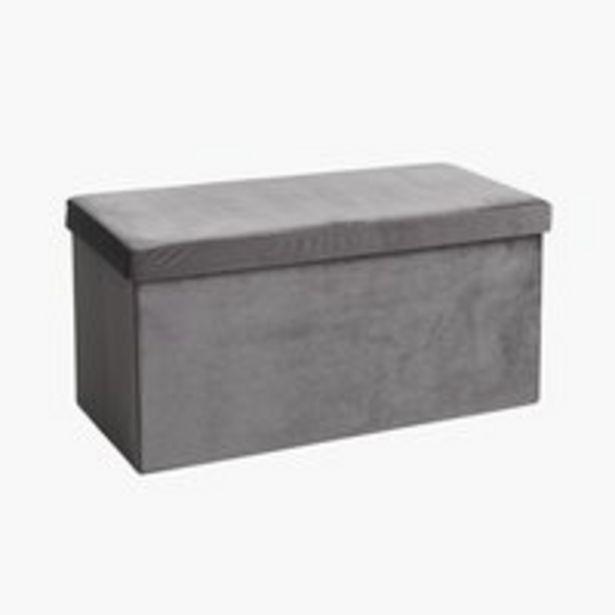 Pouf AUNING 76x38 Samt grau für 39,99€
