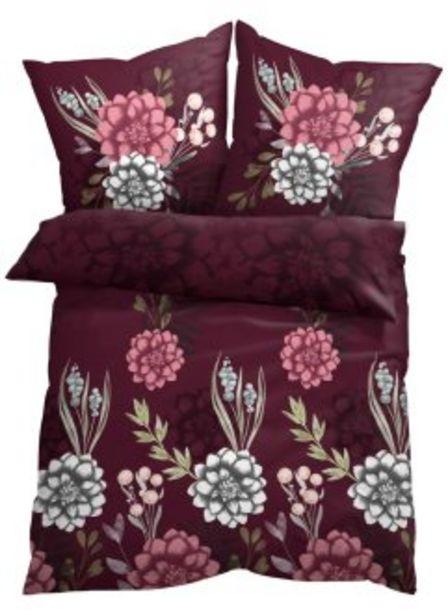 Bettwäsche mit Blumen Design für 12,99€