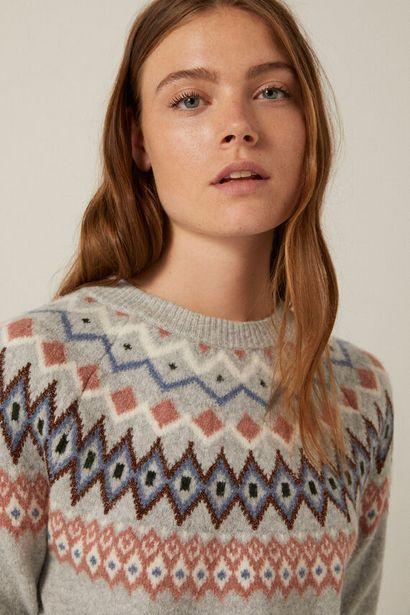 Pullover Jacquardbordüre für 39,99€