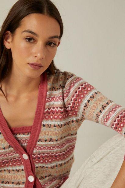 Strickjacke Jacquard Bio-Baumwolle für 17,99€