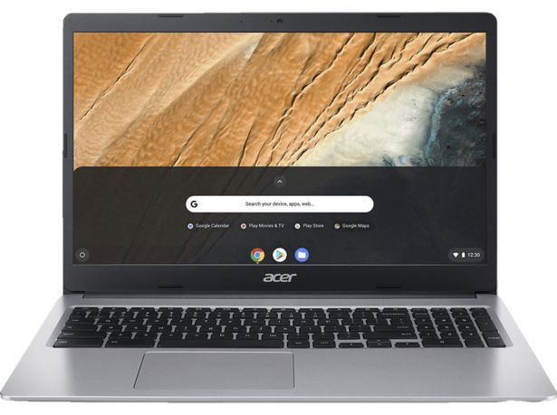 ACER Chromebook 15 (CB315-3HT-C47Q), Chromebook mit 15,6 Zoll Display Touchscreen, Intel® Celeron® Prozessor, 4 GB RAM, 64 GB eMMC, Intel® UHD-Grafik 600, Silber für 379€
