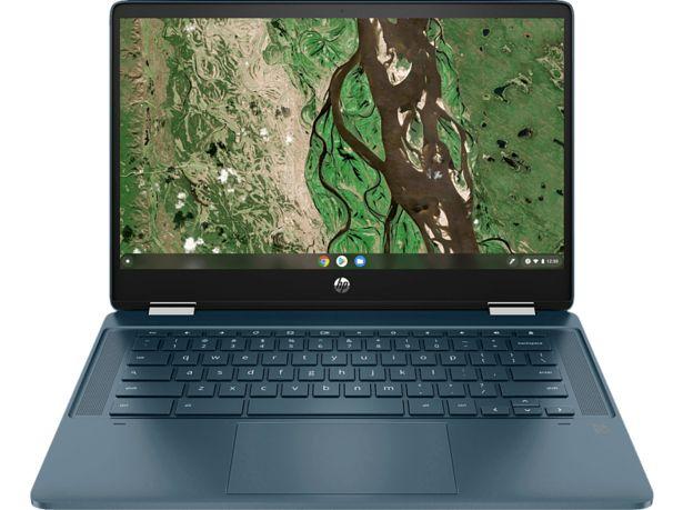 HP Chromebook x360 14b-cb0345ng, Plus Chromebook mit 14 Zoll Display Touchscreen, Intel® Pentium® Silver Prozessor, 8 GB RAM, 128 GB eMMC, Intel® UHD Grafik, Spruce Blue für 479€