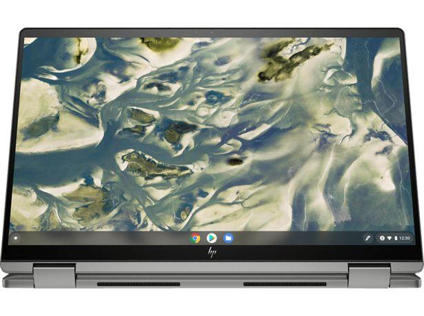 HP CHROMEBOOK X360 14C-CC0355NG, Convertible mit 14 Zoll Display Touchscreen, Intel® Core™ i3 Prozessor, 8 GB RAM, 128 GB SSD, Intel® UHD Graphics, Silber für 649€