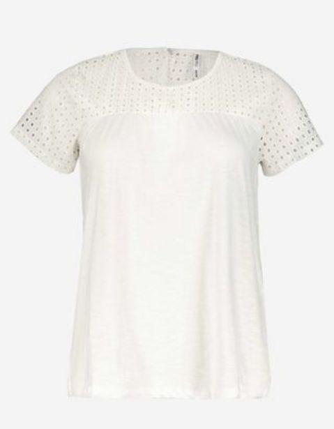 Damen T-Shirt mit Lochspitze für 5,99€
