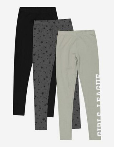 Mädchen Leggings - 3er-Pack für 15,99€