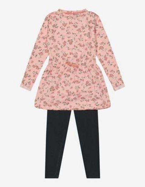 Mädchen Set aus Kleid und Leggings für 12,99€