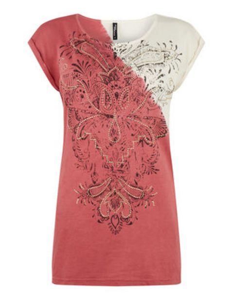 Damen Shirt mit Nietenbesatz für 2,99€