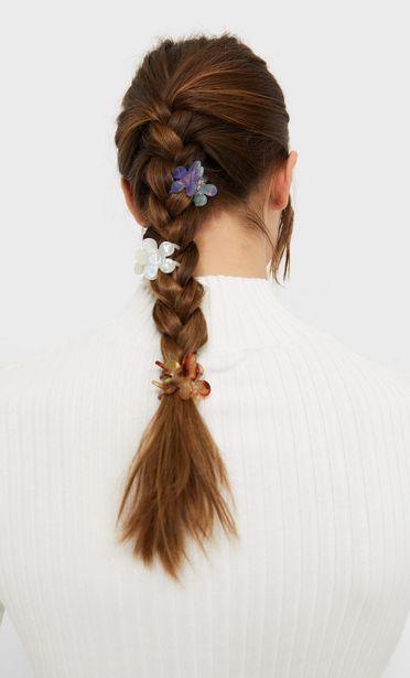 3er-Set Haarklammern mit Blumen für 7,99€