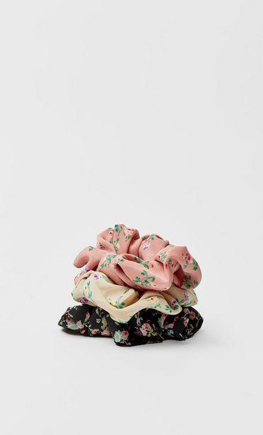 3er-Set Haargummis mit Blumen für 7,99€