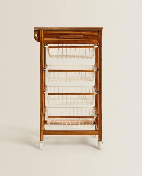 Rollbares Staumöbel Aus Holz Und Metall für 169€