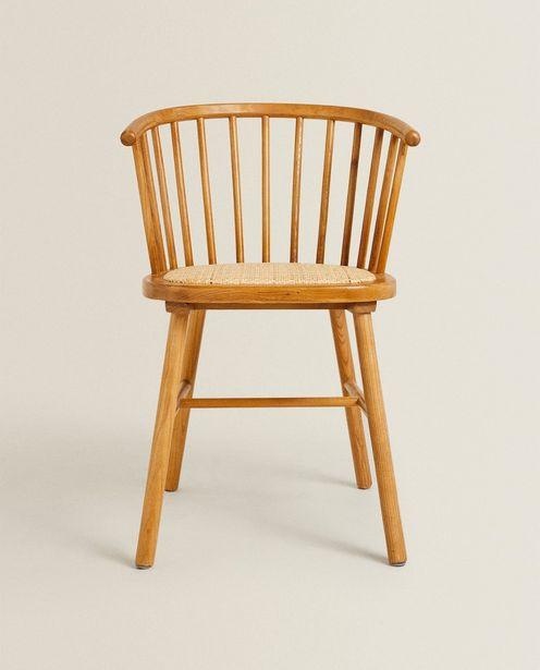 Stuhl Aus Eschenholz Mit Sitz Aus Rattan für 149€