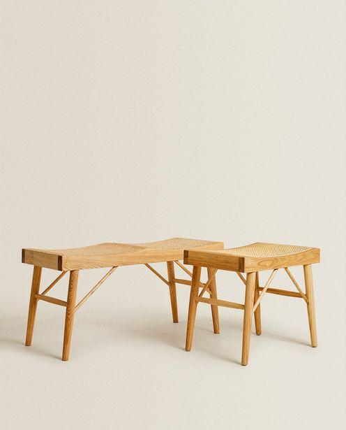 Sitzbank Aus Holz Und Rattan für 99,99€