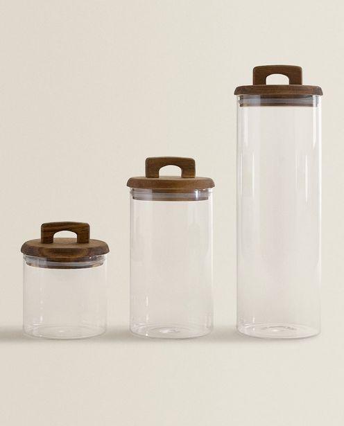 Vorratsbehälter Aus Borosilikatglas Und Holz für 11,99€