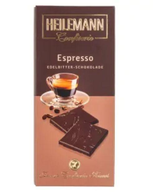 Edelbitter-Schokolade ESPRESSO von Heilemann, 80g für 2,29€